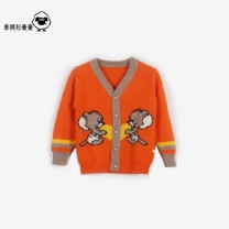 Sweater / sweater 80cm,90cm,100cm,110cm,120cm,130cm,140cm Cashmere blend male Navy, red, gray, orange, double mouse s, Navy cartoon s, green cardigan s, red small, navy blue, Korean red Leiyifang Korean version No model Single breasted routine V-neck nothing Ordinary wool Cartoon animation Class A
