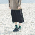 skirt Winter 2016 Average size White, red, gray, black Mid length dress Versatile Natural waist Solid color Type A Plain knitted pleated skirt More than 95% Echo'shine cotton