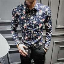 shirt Youth fashion KL&SL M L XL XXL XXXL 4XL 5XL (thin) black dahonghua (thin) Navy dahonghua (thin) blue and white (thin) A02 (thin) C05 off white (thin) apricot dahonghua (thin) red (thin) yellow (thin) C05 blue routine Pointed collar (regular) Long sleeves Self cultivation daily spring ZJC11   .