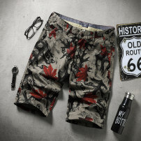 Casual pants Xsakadan / smart Cardin Youth fashion Dark grey brown 29 30 31 32 33 34 35 36 38 40 routine Shorts (up to knee) Other leisure Self cultivation Micro bomb D20D9 summer youth tide 2020 middle-waisted Straight cylinder Cotton 98% polyurethane elastic fiber (spandex) 2% Beach pants cotton