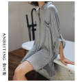 Nightdress An Beiting One size fits all ml XL pajamas youth viscose  81% (inclusive) - 95% (inclusive) Modal fabric Summer of 2019 Viscose fiber (viscose fiber) 95% polyurethane elastic fiber (spandex) 5% Pure e-commerce (online only)