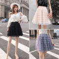 skirt Spring 2021 Average size Black white gray nude Short skirt commute High waist Cake skirt Solid color 18-24 years old XI261 More than 95% Lace ZKCNC polyester fiber Korean version Polyester 100% Pure e-commerce (online only)