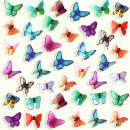 Wall stickers PVC 84 three dimensional butterflies Small Flat wall sticker Waterproof wall sticker Zhang bedroom Others animal Countryside Midair