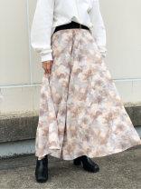 skirt Spring 2021 F. There is a standard, no return Beige Versatile High waist High waist skirt Decor Type A More than 95% other polyester fiber Puff print, zipper, stitching