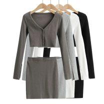 Fashion suit Spring 2021 S, M White, black, light grey, dark grey 25-35 years old spandex