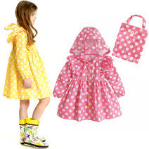 Poncho / raincoat polyester Yellow wave point (the last batch, sold out of no help), new shining stars (yellow thickened with coating), pink wave point (a small number, sold out of no help), Japanese Cape Raincoat - red star, Japanese Cape Raincoat - blue star S,M,L,XL children 1 person routine