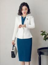 Professional dress suit S,M,L,XL,XXL,XXXL Autumn 2020 Long sleeves C226+Q235 Suit skirt 25-35 years old AI Shangchen 91% (inclusive) - 95% (inclusive) polyester fiber