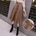 skirt Winter 2020 L,M,XL,S Black, coffee commute High waist Umbrella skirt Solid color 3032#X other other Pocket, zipper Korean version