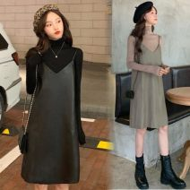 Dress Spring 2020 Average size Middle-skirt Two piece set Sleeveless commute V-neck Socket routine camisole Other / other Korean version 31% (inclusive) - 50% (inclusive)