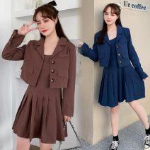 Fashion suit Spring 2021 M,L,XL,XXL,XXXL,4XL Brown, blue 18-25 years old polyester fiber