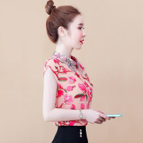 Lace / Chiffon Summer 2021 S,M,L,XL,2XL Short sleeve commute Socket singleton  easy Regular Doll Collar Decor routine 25-29 years old Korean version 96% and above