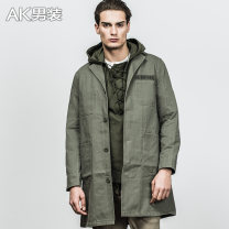 Windbreaker Army green AKseries Fashion City XXL S M L XL Single breasted have more cash than can be accounted for easy Other leisure spring youth Lapel American leisure Cotton 100% Solid color Fall 2017 Same model in shopping mall (sold online and offline)