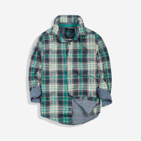 shirt green Other / other male The recommended height is 100 for code 4a, 110 for code 5a, 120 for code 6a, 125 for code 7a, 130 for code 8a, 140 for code 10a, 150 for code 12a and 160 for code 14a spring and autumn Long sleeves leisure time lattice Pure cotton (100% cotton content) Cotton 100%