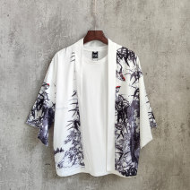 shirt Youth fashion Trigg  M L XL XXL Thin money other three quarter sleeve easy daily summer teenagers Polyester 96% polyurethane elastic fiber (spandex) 4% Chinese style 2019 Plants and flowers Summer of 2019 No iron treatment Pure e-commerce (online only)