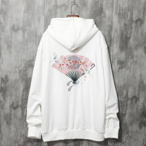 Sweater Youth fashion Trigg  White Black Blue Pink White Plush Pink Plush black Plush Blue Plush M L XL XXL other Socket Hood autumn easy leisure time teenagers Chinese style routine u8072 Cotton 90% polyester 10% Embroidery Autumn of 2019 Pure e-commerce (online only) Other styles
