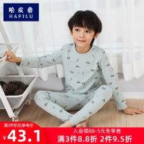 Underwear set Cotton 95% polyurethane elastic fiber (spandex) 5% cotton Habiru  spring and autumn male Class B Home Autumn of 2019 Simplicity