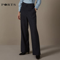 Casual pants 0 2 4 6 8 10 Winter of 2019 trousers Wide leg pants Natural waist commute routine 30-34 years old Ports Simplicity Same model in shopping mall (sold online and offline)