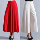 Casual pants White, black, red, green, khaki XL,2XL,3XL,4XL,5XL Summer 2021 Wide leg pants Natural waist Versatile Thin money 40-49 years old 81% (inclusive) - 90% (inclusive) Other / other