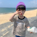 T-shirt Apricot, yellow, blue Sifangjia 80cm,90cm,100cm,110cm,120cm,130cm male summer Short sleeve Crew neck Korean version There are models in the real shooting nothing other Leopard Print Other 100% xs3019 Class B Sweat absorption Chinese Mainland Zhejiang Province Huzhou City