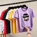 T-shirt 18-24 years old other 96% and above Short sleeve Summer of 2019 Regular payment Crew neck easy routine commute Cartoon animation Korean version printing White, black, pink, red, yellow, purple S,M,L,XL,2XL,3XL