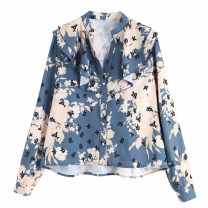 shirt Design and color [9790] XS,S,M,L Autumn of 2019 other 51% (inclusive) - 70% (inclusive) Long sleeves street Regular Single row multi button shirt sleeve Broken flowers ylk1909431310 Ruffle, print Europe and America