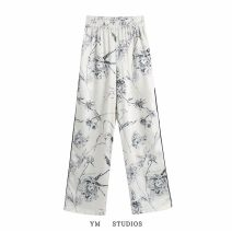 Casual pants XS,S,M,L Spring 2021 trousers Straight pants Natural waist street Thin money 91% (inclusive) - 95% (inclusive) pocket Europe and America