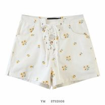 Casual pants Picture color [9370] S,M,L Summer 2020 shorts High waist street routine 51% (inclusive) - 70% (inclusive) Embroidery cotton Europe and America