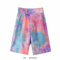 Casual pants Picture color [27676] S,M,L Autumn 2020 Pant Wide leg pants High waist street routine tie-dyed Europe and America
