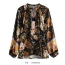 shirt Picture color [87275] S,M,L Spring 2021 cotton 96% and above Long sleeves street Regular Socket routine Broken flowers Straight cylinder printing Europe and America pure cotton
