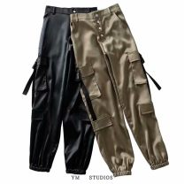 Casual pants Black [751] S,M,L Spring 2020 trousers Overalls High waist street routine Europe and America