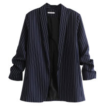 suit Spring of 2019 S,M,L Nine point sleeve routine No buckle street stripe