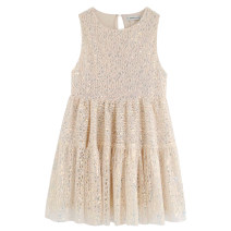 Dress Summer of 2019 Picture color [9612] XS,S,M,L Short skirt singleton  Sleeveless street Crew neck High waist Socket Sequins bb1909801111 Europe and America