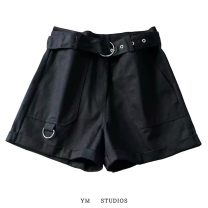 Casual pants Black, army green, khaki S,M,L Summer 2020 shorts Wide leg pants High waist street routine 96% and above tt2007400915 other Europe and America