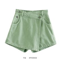 Casual pants Pink [2260], black [2260], green [2260] XS,S,M,L Autumn 2020 shorts High waist street routine 51% (inclusive) - 70% (inclusive) other Europe and America