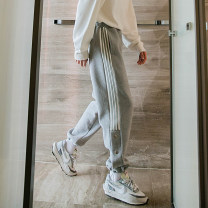 sweatpants  S,M,L,XL teenagers trousers CHICERRO Gray, black Other leisure Youth fashion easy thick winter tide middle-waisted Little feet 2020 other Micro bomb Inlay / stick No iron treatment