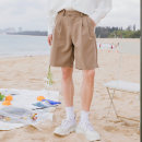 Casual pants CHICERRO Youth fashion Khaki, black S,M,L,XL thin Shorts (up to knee) Other leisure easy summer teenagers tide 2019 middle-waisted Straight cylinder Cotton 68% polyester 32% Tapered pants Three dimensional tailoring No iron treatment Solid color Wool