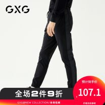 Casual pants GXG Youth fashion black 165/S 170/M 175/L 180/XL 185/XXL 190/XXXL routine trousers Other leisure Self cultivation get shot youth 2018 middle-waisted Polyamide fiber (nylon) 90.8% polyurethane elastic fiber (spandex) 9.2% Autumn of 2018