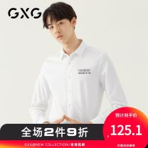 shirt Youth fashion GXG 165/S 170/M 175/L 180/XL 185/XXL 190/XXXL white routine Pointed collar (regular) Long sleeves standard Other leisure autumn GA103711E youth Cotton 100% Business Casual 2018 Letters / numbers / characters Color woven fabric Autumn of 2018 printing