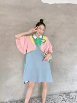 Dress Spring 2021 Pink + light blue, red + blue S. M, l, no return, no change