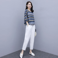 Fashion suit Summer 2021 S M L XL XXL Picture color 25-35 years old Aylie Cotton 65.8% flax 34.2%