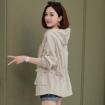 short coat Autumn 2020 M L XL XXL Long sleeves routine routine singleton  easy routine Hood zipper Solid color 25-29 years old Aylie 96% and above Pocket zipper polyester fiber Polyester 100%