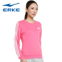 Sportswear / Pullover 2XL 3XL s (adult) m (adult) l (adult) XL (adult) Erke / hongxingerke female Socket Crew neck Summer of 2019 Brand logo pattern run Women's training yes