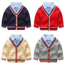 Sweater / sweater 90cm,100cm,110cm,120cm,130cm,140cm other male Shell element Europe and America No model Single breasted V-neck nothing other Class B 2, 3, 4, 5, 6, 7, 8, 9, 10, 11, 12, 13, 14 years old
