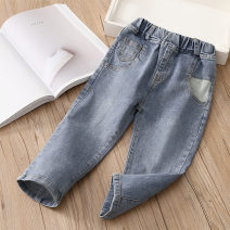 trousers Shell element female 90cm,100cm,110cm,120cm,130cm,140cm Denim blue spring and autumn trousers fresh No model Casual pants Leather belt middle-waisted Don't open the crotch Other 100% kzd331 Class B 2, 3, 4, 5, 6, 7, 8, 10, 9, 11, 12, 13, 14