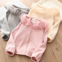 T-shirt Grey, beige, pink Shell element 90cm,100cm,110cm,120cm,130cm,140cm female spring and autumn Long sleeves other other Other 100% txb287 Class B 2, 3, 4, 5, 6, 7, 8, 9, 10, 11, 12, 13, 14 years old