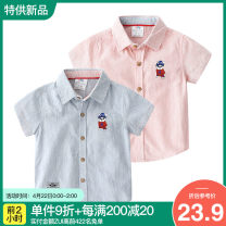 shirt Shell element male 90cm,100cm,110cm,120cm,130cm,140cm summer Short sleeve Europe and America other other Lapel and pointed collar Class B