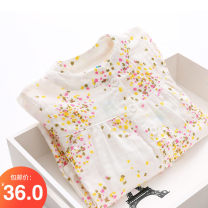 shirt white Shell element female 90cm,100cm,110cm,120cm,130cm,140cm,150cm spring and autumn Long sleeves Korean version Broken flowers other Class B