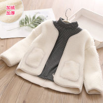 Plain coat Shell element female 100cm,110cm,120cm,130cm,140cm,150cm Off white winter fresh No model nothing Solid color other Class C