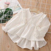 T-shirt milky white Shell element 90cm,100cm,110cm,120cm,130cm,140cm female spring and autumn Long sleeves other fresh No model nothing other other Other 100% txa121 Class B 14, 13, 12, 11, 10, 9, 8, 7, 6, 5, 4, 3, 2 years old