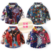 shirt Blue, red, dark blue, rose red, big flower, lake blue, color matching blue, red green, red lake blue, manyin, color matching red Shell element male 140cm,130cm,120cm,110cm,100cm,90cm winter Long sleeves Europe and America other other Lapel and pointed collar txa021 Class B